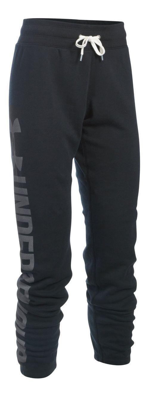 Womens Under Armour Favorite Fleece Pants - Black MR