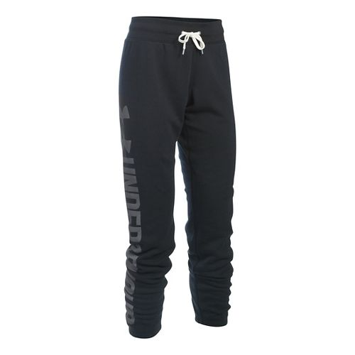 Womens Under Armour Favorite Fleece Pants - Black XLR