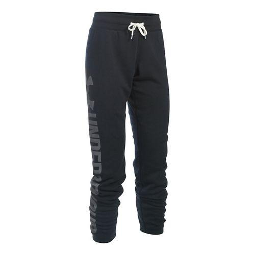 Womens Under Armour Favorite Fleece Pants - Black XSR