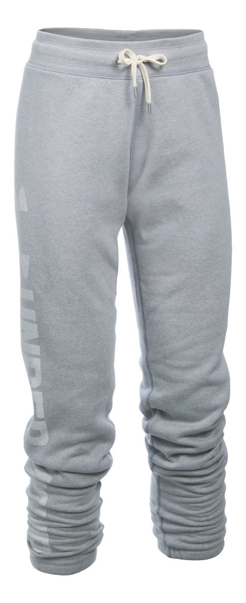 Womens Under Armour Favorite Fleece Pants - True Grey Heather MR