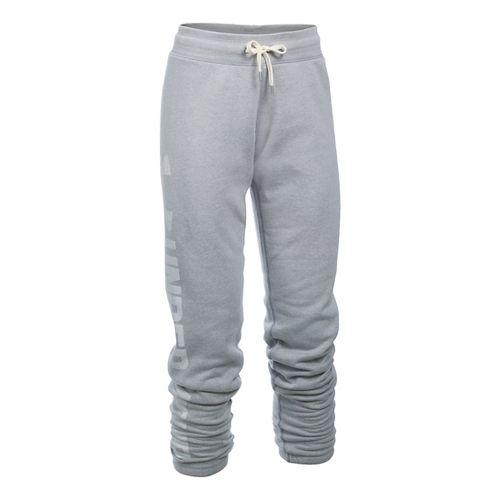 Womens Under Armour Favorite Fleece Pants - True Grey Heather LR