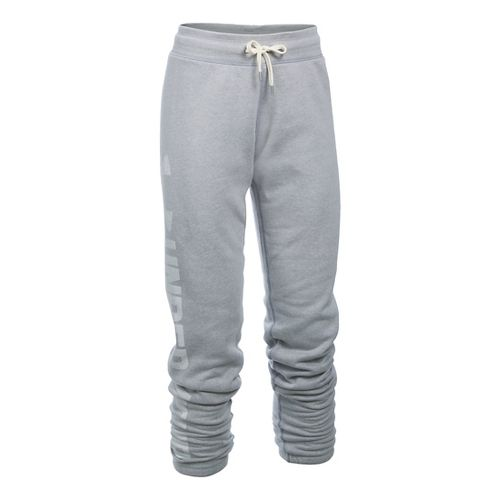 Womens Under Armour Favorite Fleece Pants - True Grey Heather XLR