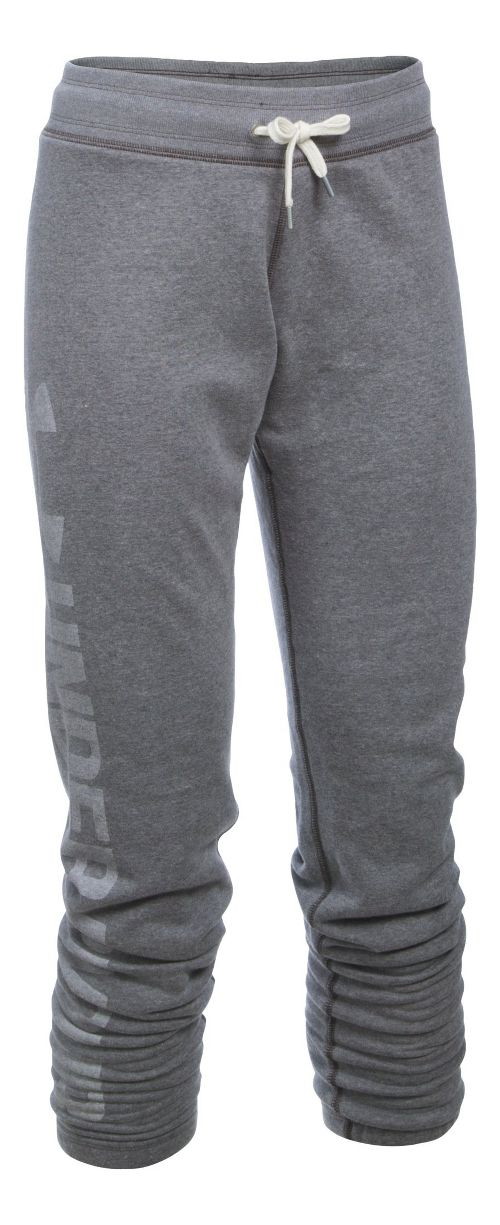 Womens Under Armour Favorite Fleece Pants - Carbon Heather LR