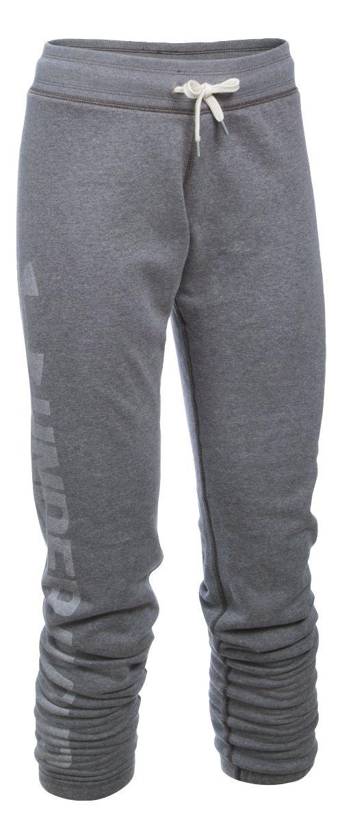 Womens Under Armour Favorite Fleece Pants - Carbon Heather MR