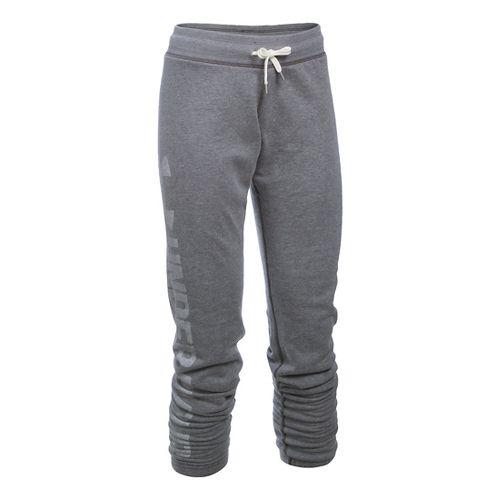Womens Under Armour Favorite Fleece Pants - Carbon Heather SR