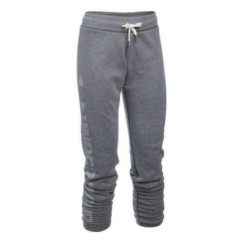 Womens Under Armour Favorite Fleece Pants - Carbon Heather XSR
