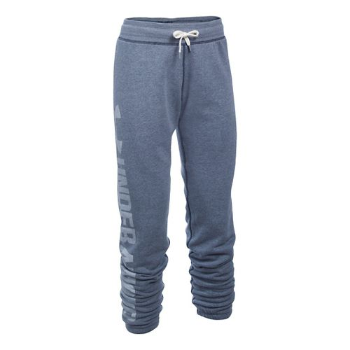 Womens Under Armour Favorite Fleece Pants - Midnight Navy XXLS