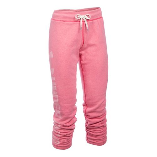 Womens Under Armour Favorite Fleece Pants - Knock Out XSR