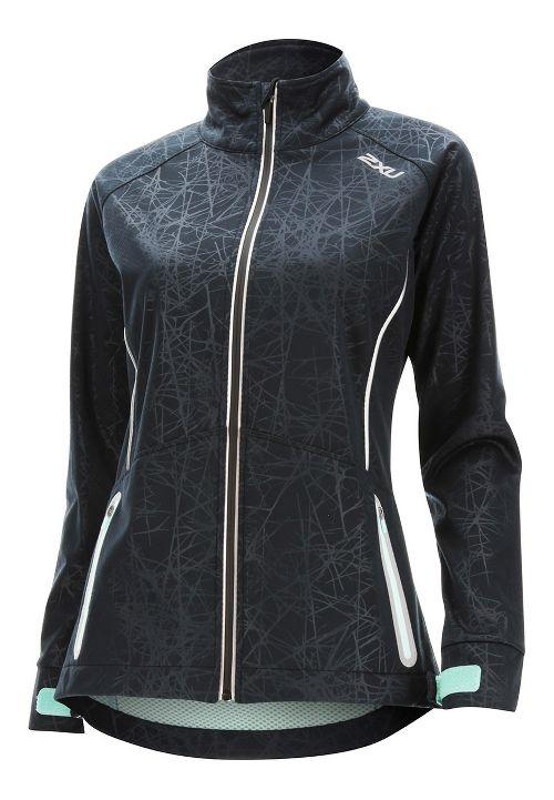 Womens 2XU 23.5 N Running Jackets - Black/Soft Cell L