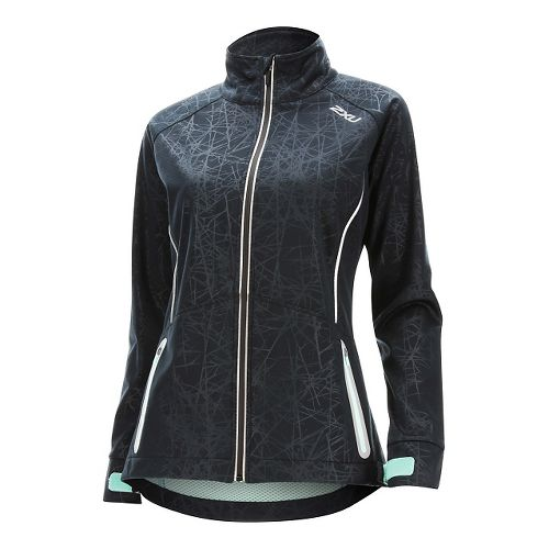 Womens 2XU 23.5 N Running Jackets - Black/Soft Cell M