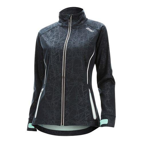 Womens 2XU 23.5 N Running Jackets - Black/Soft Cell XS