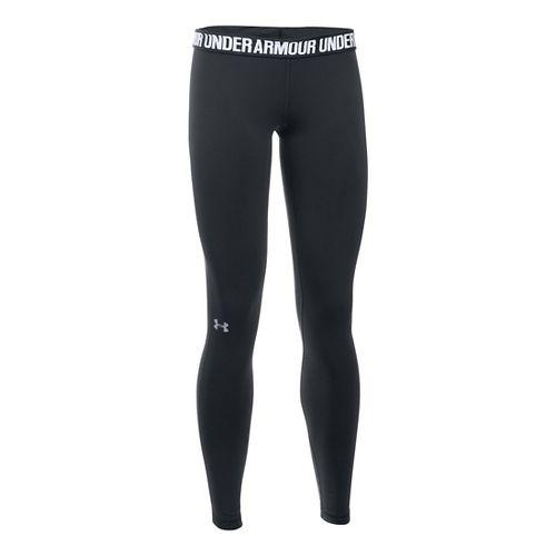Womens Under Armour Favorite Tights & Leggings Pants - Black L-S