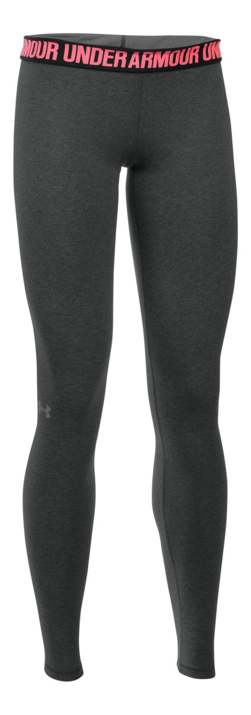 Womens Under Armour Favorite Tights & Leggings Pants - Carbon Heather M