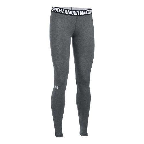 Womens Under Armour Favorite Tights & Leggings Pants - Carbon/Black XL