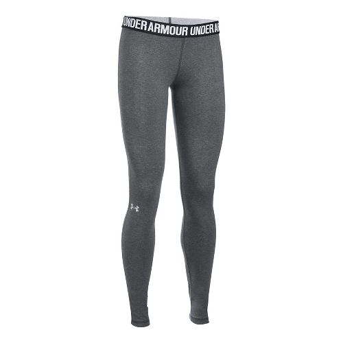 Womens Under Armour Favorite Tights & Leggings Pants - Carbon/Black XS