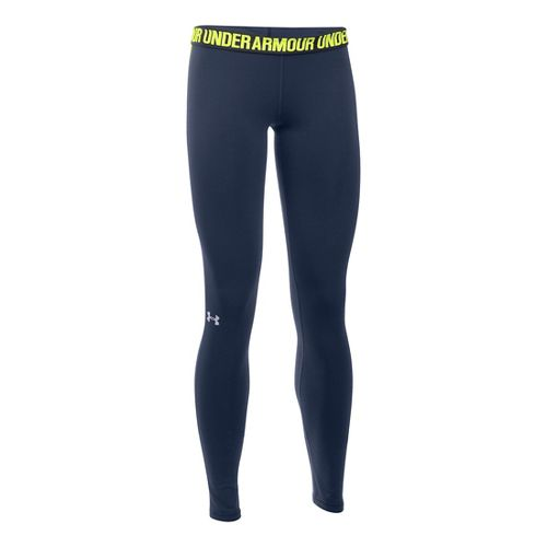 Womens Under Armour Favorite Tights & Leggings Pants - Midnight Navy MR