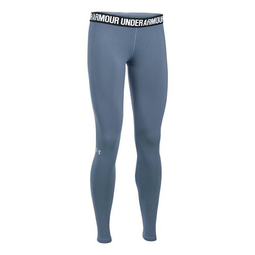 Womens Under Armour Favorite Tights & Leggings Pants - Aurora Purple MT