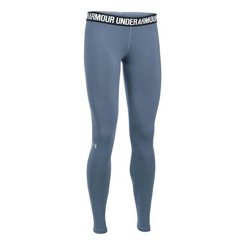 Womens Under Armour Favorite Tights & Leggings Pants - Aurora Purple XXL-T