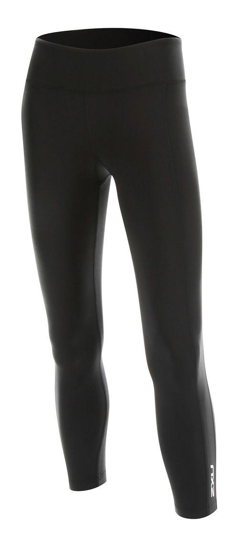 2XU Womens 7/8 Active Compression Tights & Leggings Pants - Black/Silver L-R