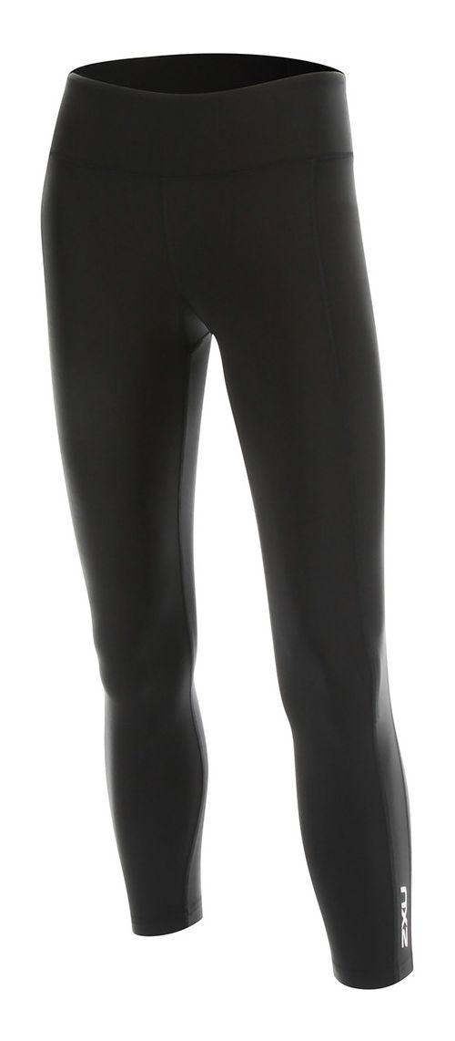 2XU Womens 7/8 Active Compression Tights & Leggings Pants - Black/Silver XS-R