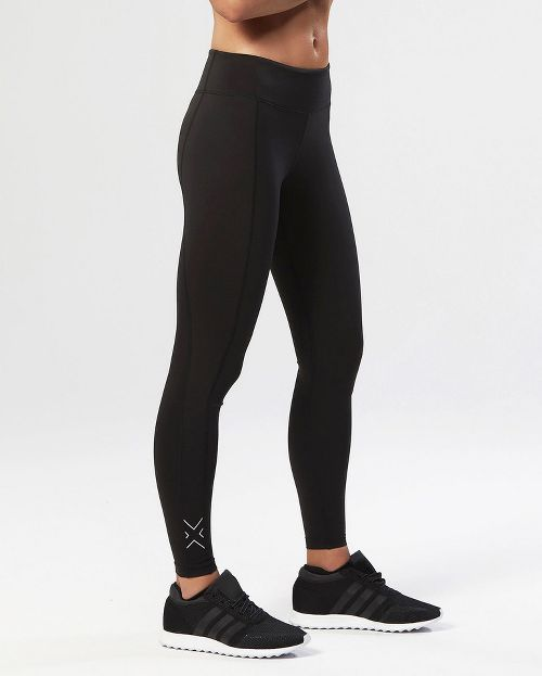 Womens 2XU Active Compression Tights Compression Pants - Black/Silver XS