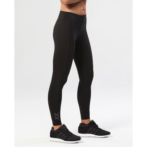 Womens 2XU Active Compression Tights & Leggings Pants - Black/Silver S-T