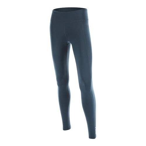 Womens 2XU Active Compression Tights & Leggings Pants - Ombre Blue/Silver L-R