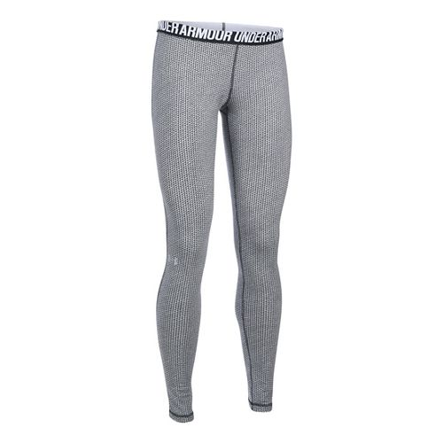 Womens Under Armour Favorite - Checkpoint Tights & Leggings Pants - Black MR