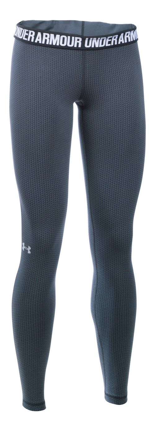 Womens Under Armour Favorite - Checkpoint Tights & Leggings Pants - Stealth Grey LR