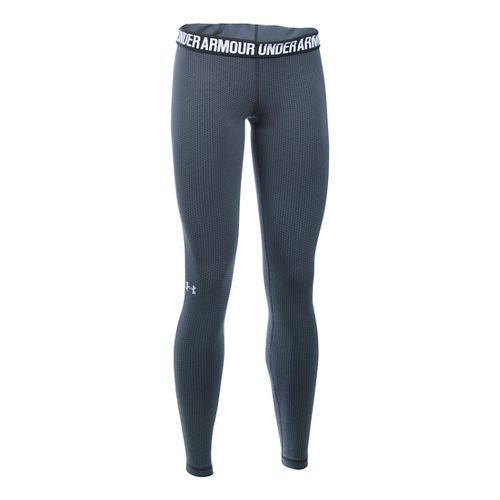 Womens Under Armour Favorite - Checkpoint Tights & Leggings Pants - Stealth Grey SR