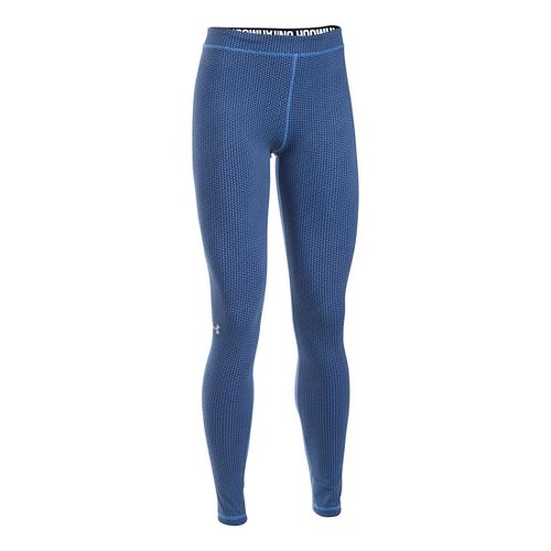 Womens Under Armour Favorite - Checkpoint Tights & Leggings Pants - Water XLR