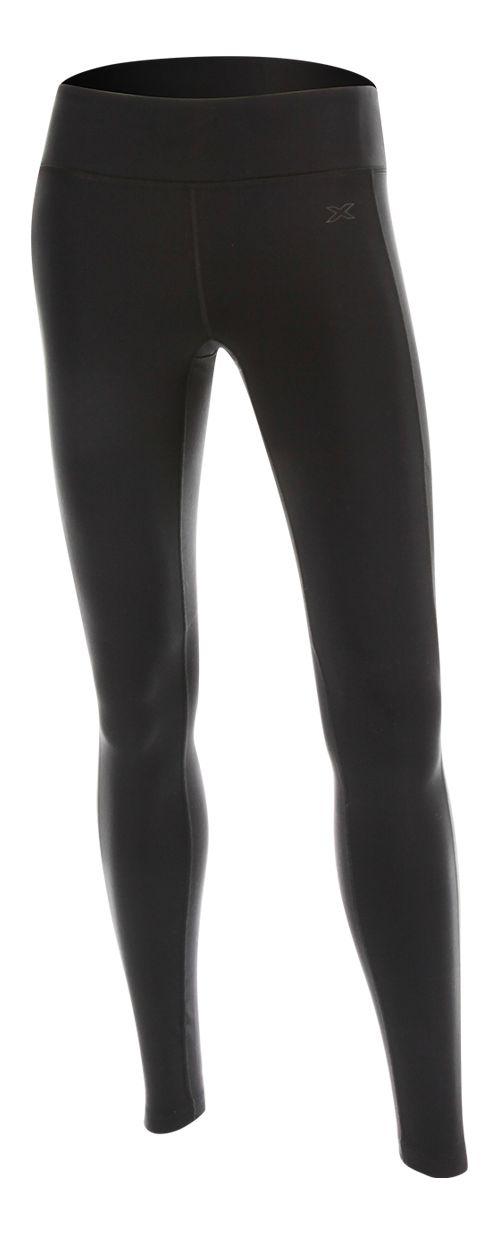 Womens 2XU Contour Tights & Leggings Pants - Black/Black S