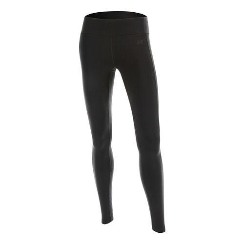 Womens 2XU Contour Tights & Leggings Pants - Black/Black L