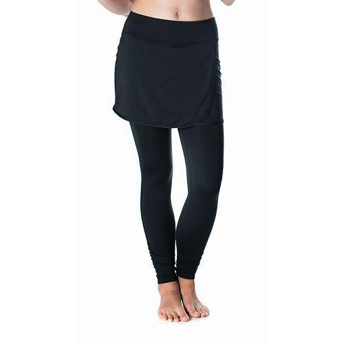 Womens Skirt Sports Wrapsody Skirt with Tights & Leggings Pants - Black M