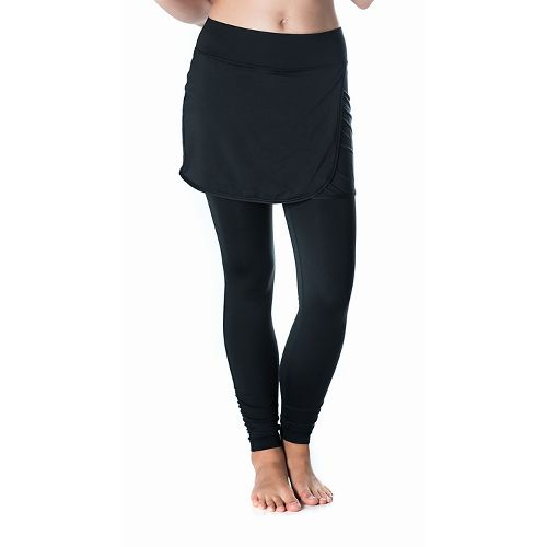Womens Skirt Sports Wrapsody Skirt with Tights & Leggings Pants - Black XS