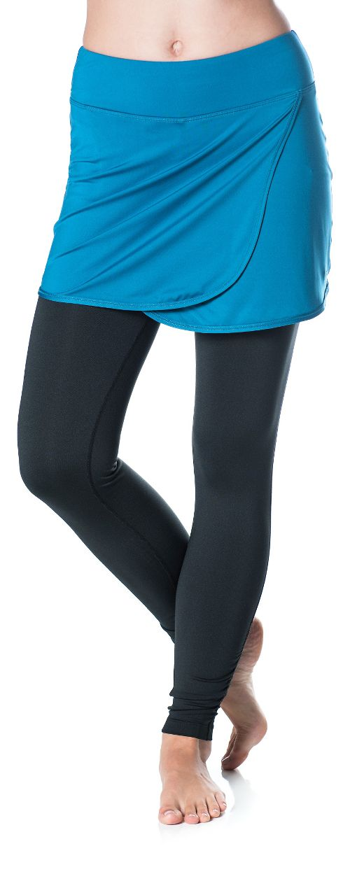 Womens Skirt Sports Wrapsody Skirt with Tights & Leggings Pants - Blue/Black L