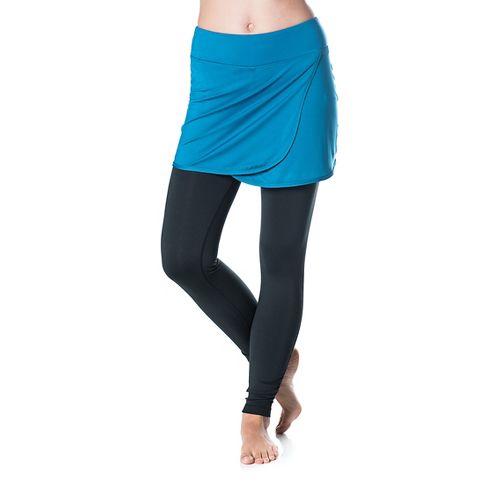 Womens Skirt Sports Wrapsody Skirt with Tights & Leggings Pants - Blue/Black M