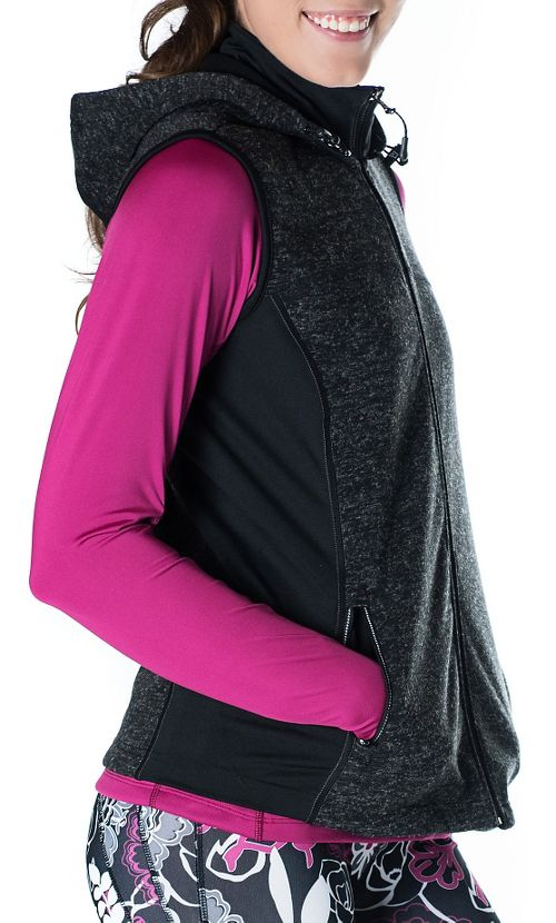 Womens Skirt Sports Toasty Girl Vests Jackets - Black Speckle S