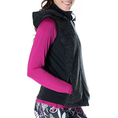 Womens Skirt Sports Toasty Girl Vests Jackets - Black Speckle XXL