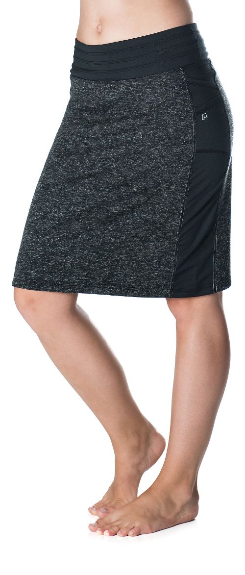 Womens Skirt Sports Toasty Cheeks Maxi Fitness Skirts - Black Speckle XS