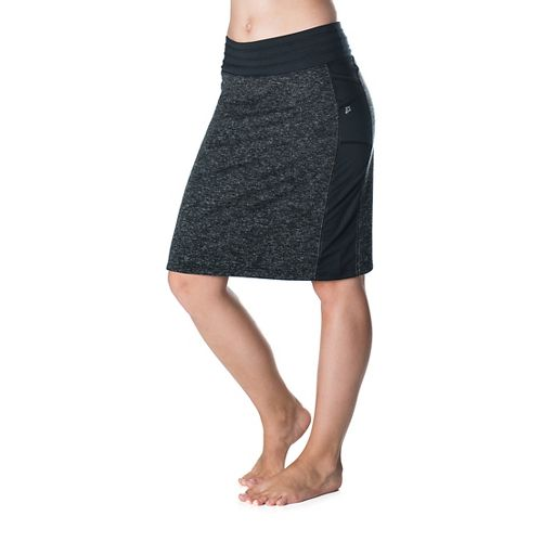 Womens Skirt Sports Toasty Cheeks Maxi Fitness Skirts - Black Speckle XL