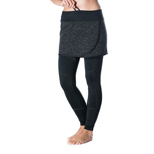 Womens Skirt Sports Toasty Cheeks Fitness Skirts - Black Speckle L