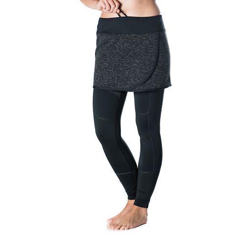Womens Skirt Sports Toasty Cheeks Fitness Skirts - Black Speckle XL
