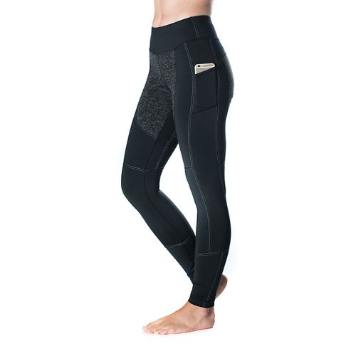 Womens Skirt Sports Toasty Tights & Leggings Pants - Black Speckle L