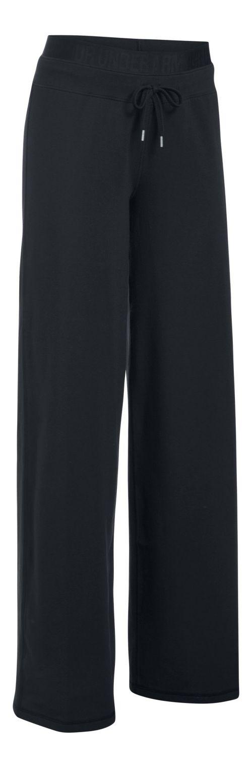 Womens Under Armour Favorite Wide Leg Pants - Black XSR