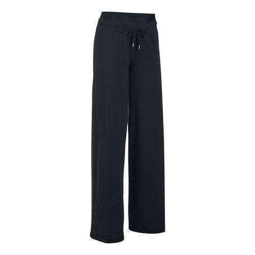 Womens Under Armour Favorite Wide Leg Pants - Black LS
