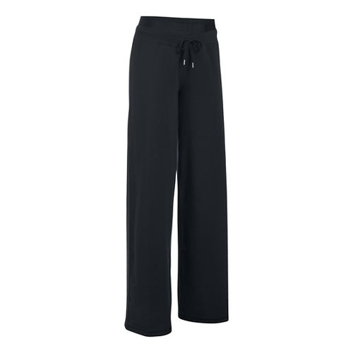 Womens Under Armour Favorite Wide Leg Pants - Black SR