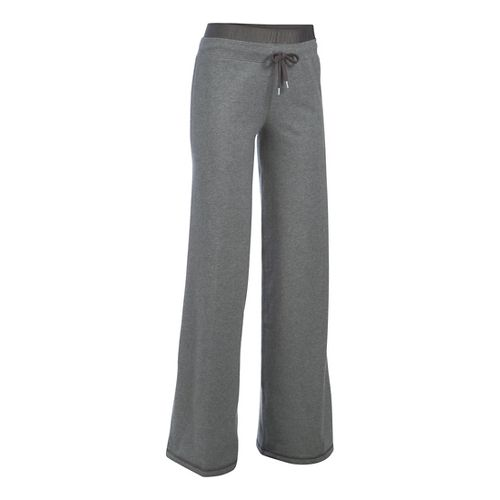 Womens Under Armour Favorite Wide Leg Pants - Carbon Heather XSR
