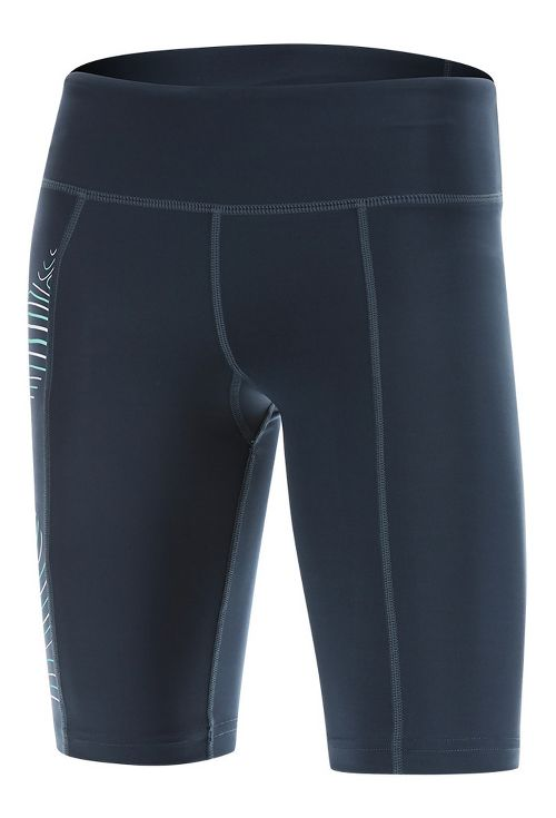 Womens 2XU HYOPTIK Mid-Rise Compression & Fitted Shorts - Blue/Luminescent L