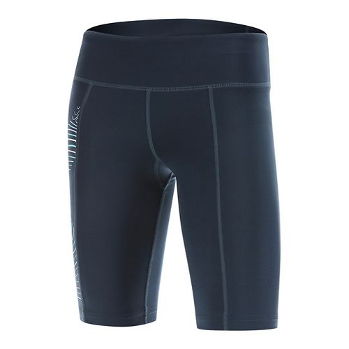 Womens 2XU HYOPTIK Mid-Rise Compression & Fitted Shorts - Blue/Luminescent M